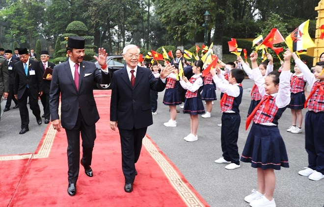 President hosts welcome ceremony for Brunei Sultan, Government news, Vietnam breaking news, politic news, vietnamnet bridge, english news, Vietnam news, news Vietnam, vietnamnet news, Vietnam net news, Vietnam latest news, vn news