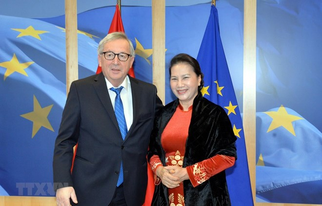 NA Chairwoman, EC President discuss EU-Vietnam FTA, Government news, Vietnam breaking news, politic news, vietnamnet bridge, english news, Vietnam news, news Vietnam, vietnamnet news, Vietnam net news, Vietnam latest news, vn news