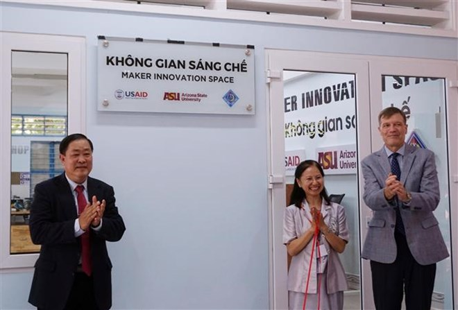 Innovation space for students inaugurated in Mekong Delta city, IT news, sci-tech news, vietnamnet bridge, english news, Vietnam news, news Vietnam, vietnamnet news, Vietnam net news, Vietnam latest news, Vietnam breaking news, vn news