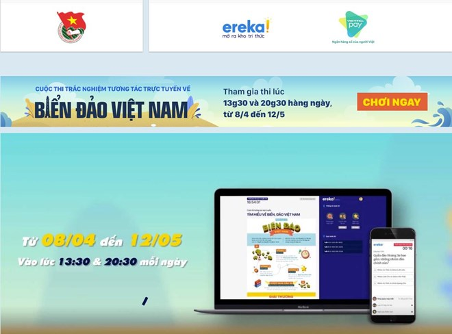 Online quizzes on Vietnamese sea, island knowledge launched in Hanoi, Online quizzes on Vietnamese sea, island knowledge launched in Hanoi